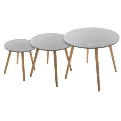 Mileo Cement Table X3 Gray From Wholesale And Import