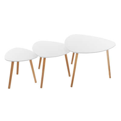 White Mileo Coffee Table X3 White From Wholesale And Import