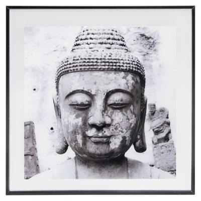 50x50 Buddha glass frame, black & white from wholesale and import