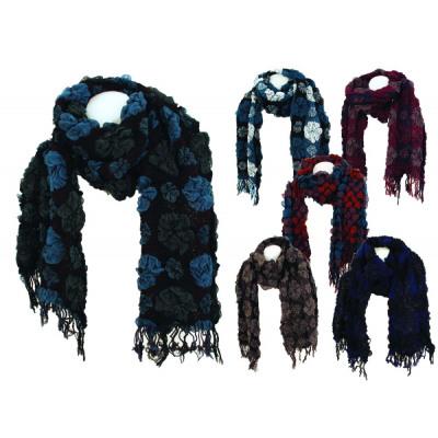 Damenschal 23 Color Crochet Design Floral Design From Wholesale
