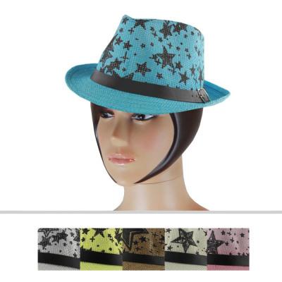 Ladies Hats CM-81 Mix Colors 6 Pieces Size 54