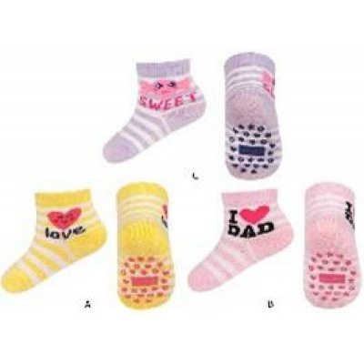 SOXO children's socks with ABS 3 pairs 16-18