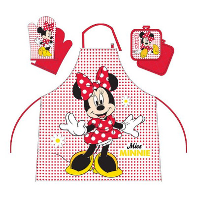 Grembiule Cucina Minnie.Kitchen Set Apron Paw Glove Minnie From Wholesale And Import