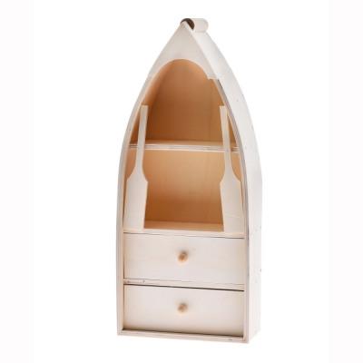 Boekenplank Met Lade.Versierde Plank Met Lade 17x8x38cm Uit Groothandel En Import