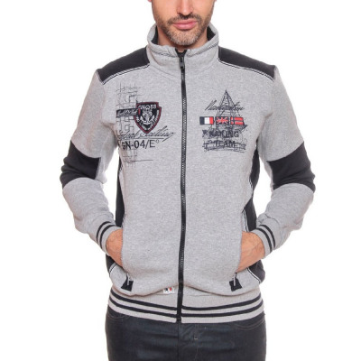 SWEAT MEN ZIPPED Geographical Norway FROUTI from wholesale