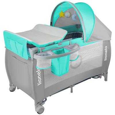 Lionelo Sven plus Enfants-Lit de voyage bébé-lit lit lit bébé pliant Marron
