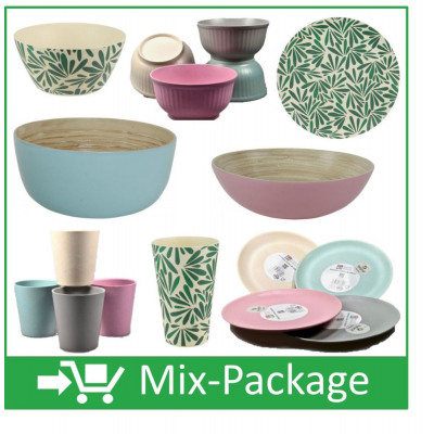 Mix Package Bamboo Tableware Trend From Wholesale And Import