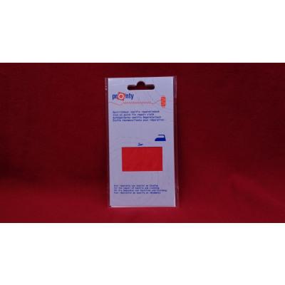 Cotton-Flickstoff iron-on, 11 x 25 cm, rosso