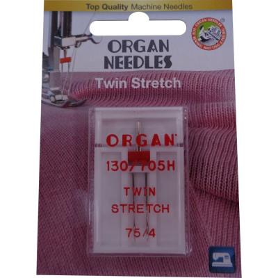 Orgelnaalden stretch-tweeling, 2-naalds 75 / 4.0