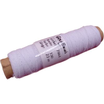 Rubber naaien op rol, wit, 20m