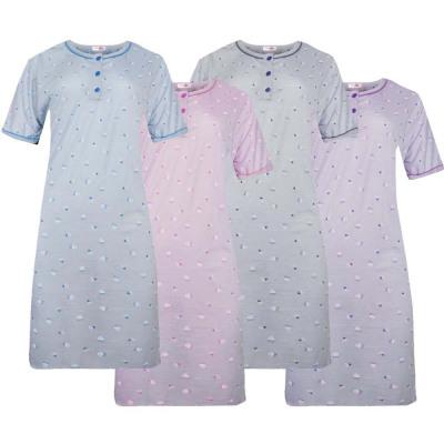 Camicia da notte donna in cotone manica corta 6915