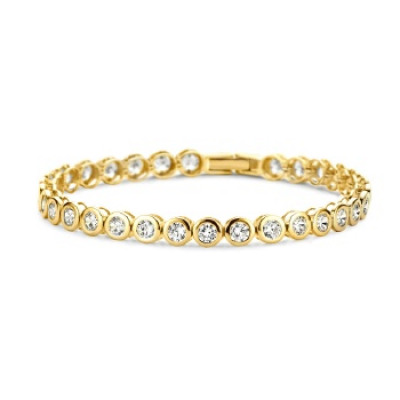 Bracelet plated 30 Zirconia Stainless Steel