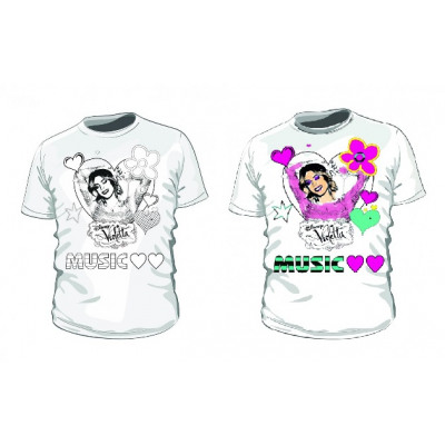 Disney Violetta Camiseta Para Colorear Del Comercio Al Por