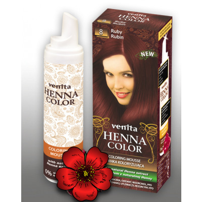 Henna Hair Foam COLOR 8 RUBIN from wholesale and import
