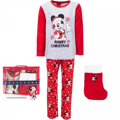 Mickey Souris pyjamas Toison corail avec Noël donc
