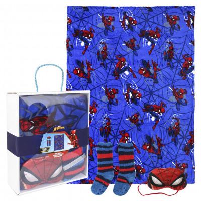 Spiderman Set de regalo de franela de manta de vel