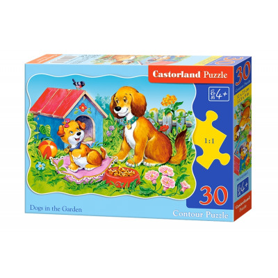 Puzzle 30 elements CONTROLS DOGS IN THE GARDEN from