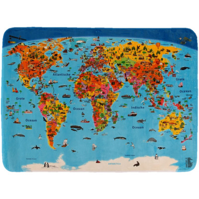 Children's Carpet World Map Dutch from wholesale and import on