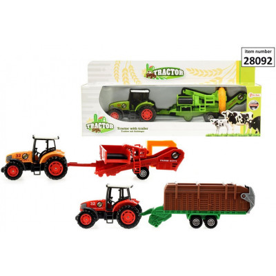 Die-Cast Tractor with Trailer Pick 3 assorted