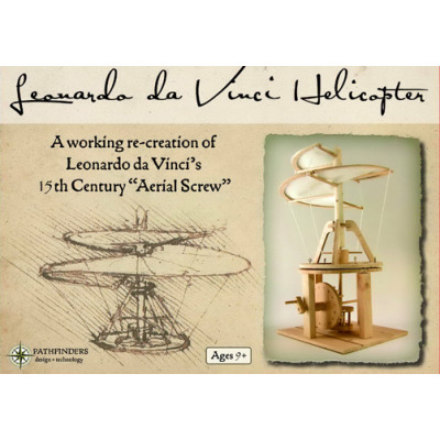 Leonardo Da Vinci Helicopter In The Color Box From Wholesale And