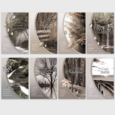 Beileidsbekundung Karte.Trauerkarten Beileidsbekundung Anteilnahme Karten Aus