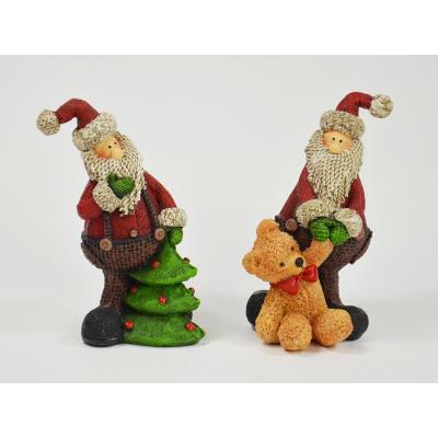 Kleiner Weihnachtsmann 2 Fach Sortiert Dekofigu Aus