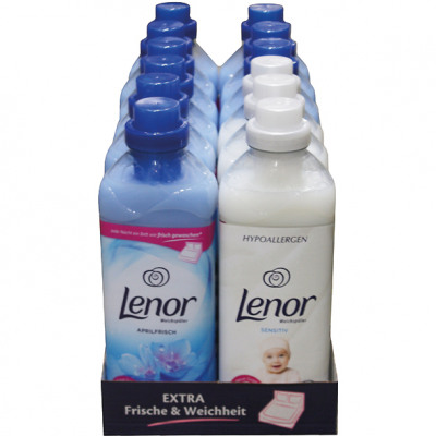 Lenor fabric softener 990ml 12-pack double