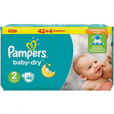 Pampers Baby Dry Size 2 Mini (3-6kg) 46 pieces