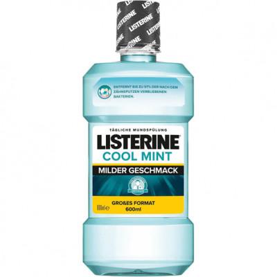 Listerine mouthwash 600ml Cool Mint Mild
