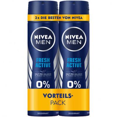 Nivea dezodor 2x150ml Men Fresh Active