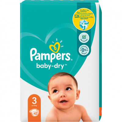 Pampers Diapers Baby Dry Size 3 Midi (5-9kg)