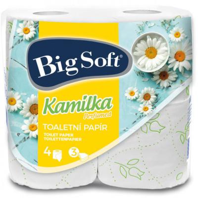 WC-papír 3 rétegű 4x160 Fekete Kamilka Big V