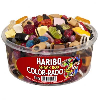Élelmiszer Haribo Color Rado kerek tartály 1kg