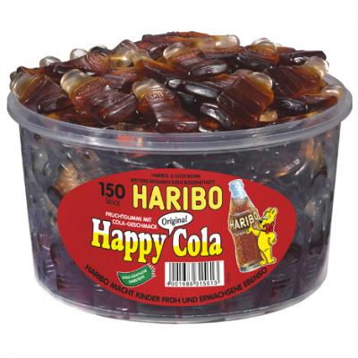Élelmiszer Haribo Runddose Boldog Cola 150 db MHD