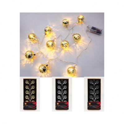 Karácsonyi fények karácsonyfa labdákat 10 golyó