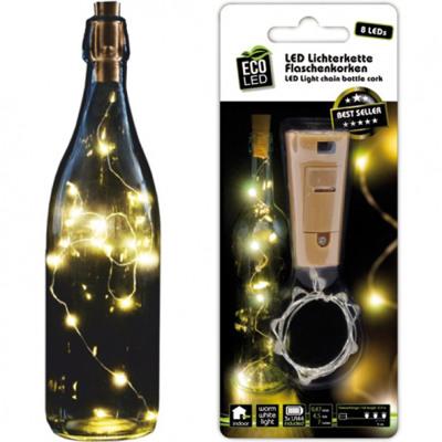 LED könnyű lánc palackdugókat 10 LED meleg fehér