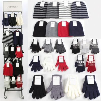 Display Winter-sorted ladies 180-part metal stand