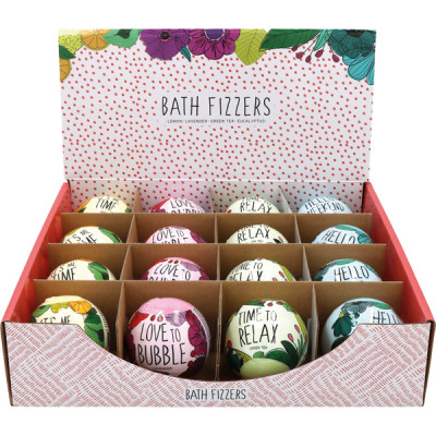 Bath ball 120g 4- times assorted in Display