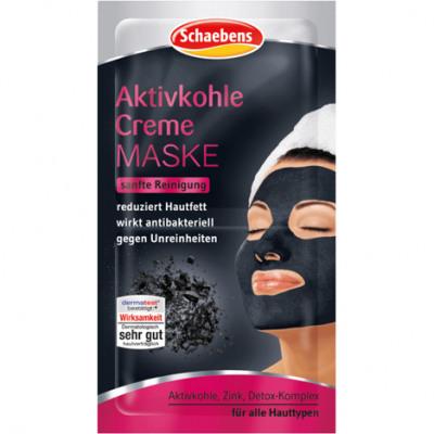 Schaebens masque facial charbon actif 2x8ml