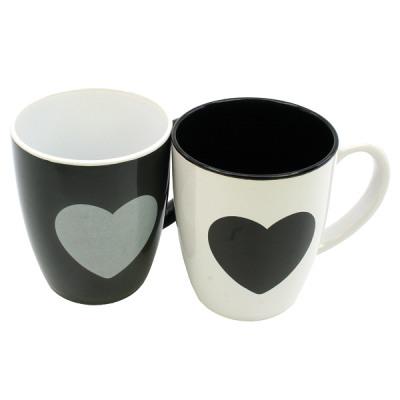 Kubek na kawę serce 12x11x8,5 cm