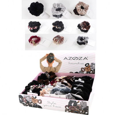 Hair scrunchies 36pcs assorted in the Display cart