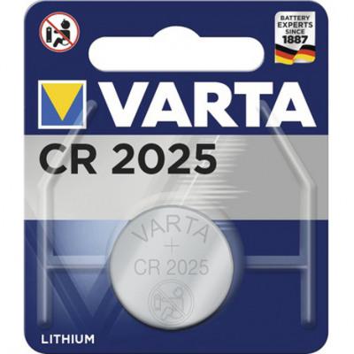 Batterie Varta Knopfzelle CR2025 1er auf Karte