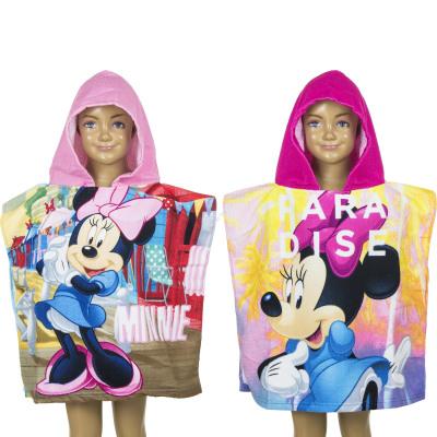 Minnie Poncho de playa con capucha