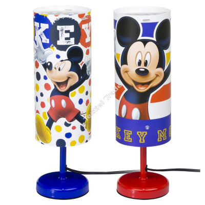 Mickey Mouse bedside lamp - cylinder lamp