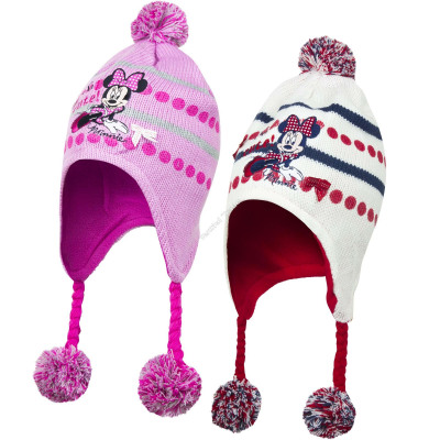 Minnie hats with pompons