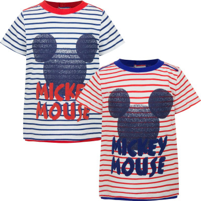 Mickey Mouse baby t-shirts stripes red and blue