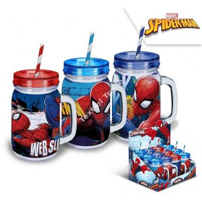 Spiderman gourde plastique