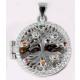 925 Silber Medaillon ohne Kette, 925/rhodiniert, 4