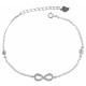 925 Silber Armband,17+3cm, 925/rhodiniert, 1,53g,