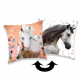 Photoprints Sweet home Horse Square Pillow a dear